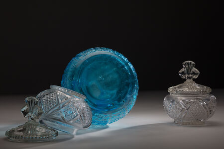 Used Glass, Blue and Clear, 5