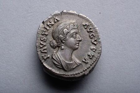 Denarius Coin of Empress Faustina