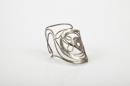 Copper wire cuff with silver solder