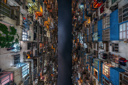 Gaps in the Grid - Stacked Hong Kong