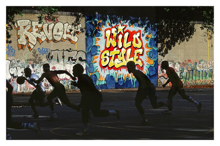 Freshly Painted Wild Style Wall in Riverside Park, Manhattan, NYC