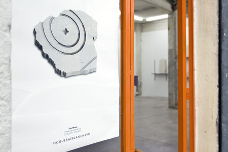 """View of the entrance to the exhibition """"Reasoning well with badly drawn figures""""by Fran Meana,installation view at NoguerasBlanchard, Madrid"""
