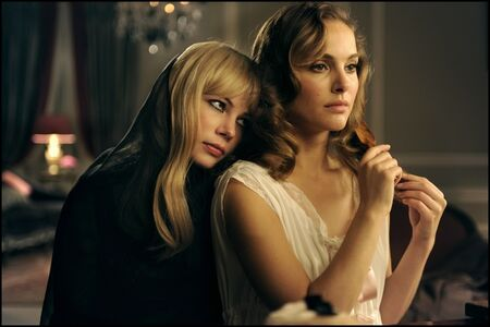 "Michelle Williams and Natalie Portman in ""GREED, The New Fragrance by Francesco Vezzoli"""