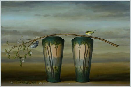 Branch and 2 Vases