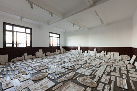 The Flesh Is Yours, The Bones Are Ours, 14th Istanbul Biennial SALTWATER, installation view, Galata Greek Primary School. Photo by Sahir Ugur Eren.