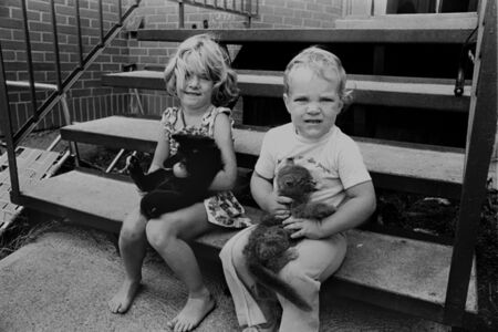 Enfants avec Chats