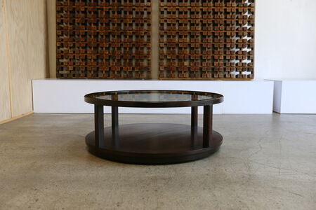 Mahogany and Glass Coffee Table by Edward Wormley