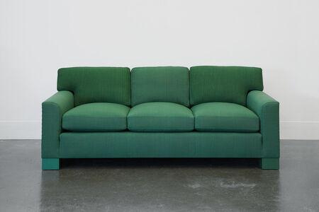 Domestic Sofa in Handwoven Green Fabric