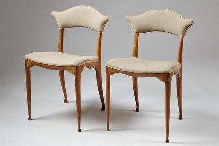 Two pierced back chairs