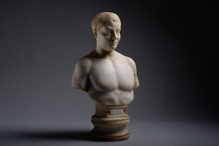 Marble Portrait Bust of a Youth