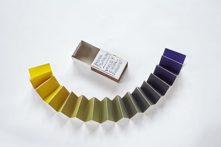 Minimum distances gama (Primary Yellow-Extra Dark Violet), from the series Collection of Colours