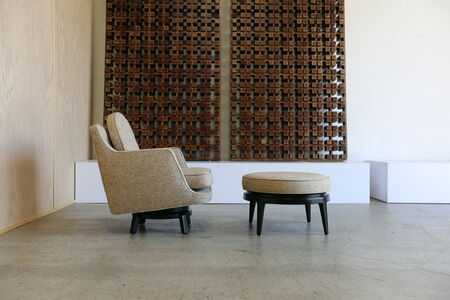 Swivel Lounge Chair and Ottoman by Edward Wormley for Dunbar