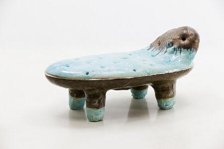 Low Bench in Glazed Ceramic