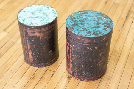 Copper Skin Series Cylinder Stool/Side Tables
