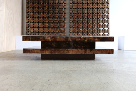Lacquered Goatskin Coffee Table by Aldo Tura