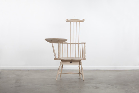 Comb-Back Writing Arm Chair