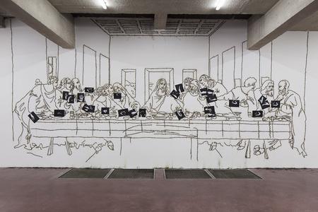 Sic Transit Gloria Mundi (The Last Supper after Leonardo Da Vinci)