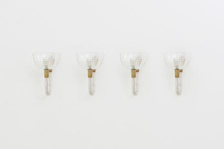 Four appliques by Carlo Scarpa for Venini