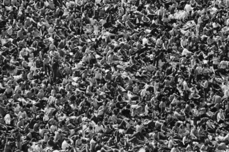 Yale University Protest view from the top of the crowd, New Haven, CT , May 2, 1970