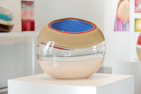 Desert Incalmo Orb in Beige, Ivory and Blue