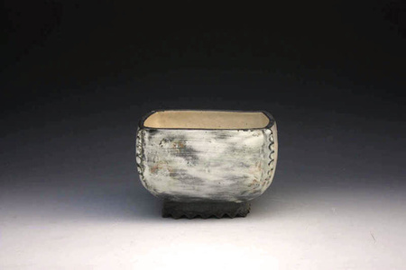 Puncheong Squared Bowl with Ash Glaze 7