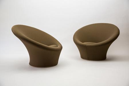 Pair of Large Mushroom Chairs, Model F562