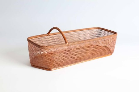 Boat-Shaped Flower Basket with Fish Scale Plaiting (T-4288)