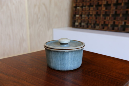 Lidded Ceramic Vessel by Rupert Deese