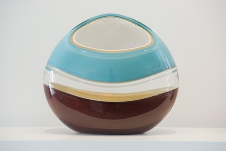 Incalmo Orb in Aqua, Brown, White and Ivory
