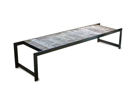 "BIRCH TILE ""TRESTLE"" TABLE"
