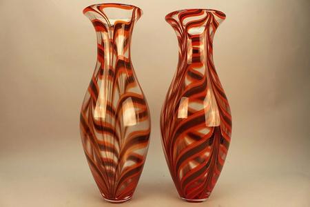 Two Ercole Barovier e Toso Vases