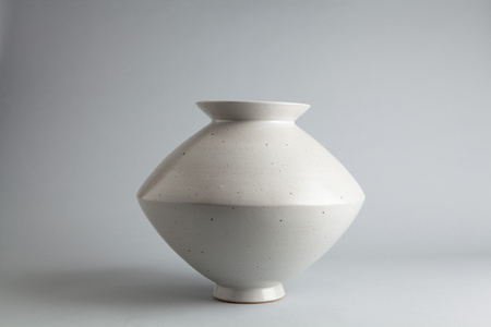 Spindle vase, talc and nepheline syenite glaze