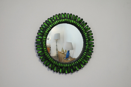 "Green ""Gerbera"" mirror"