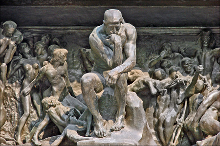 The Gates of Hell (Detail: The Thinker)