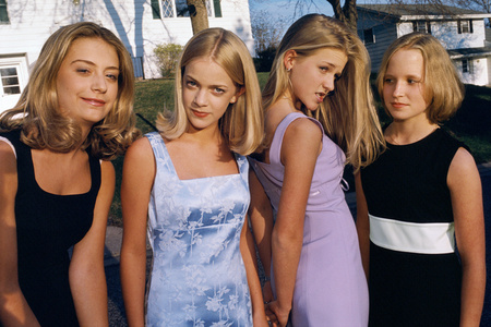 Alli, Annie, Hannah, and Berit, all 13 and members of the popular clique at school, Edina