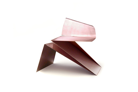 Rose Gold Origami Chair