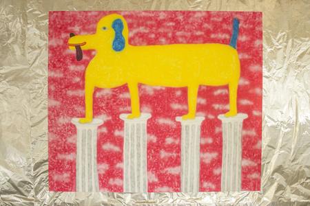 Dog on Some Pedestals