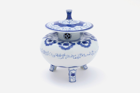 Yukimi Styled Incense Burner with Design of Arabic Calligraphy