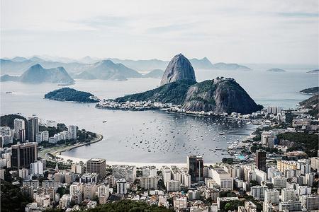 View of Baia de Guanabara, Botafogo Beach, Rio deJaneiro, Brazil
