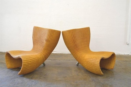 "1st Edition ""Felt"" Chairs in Wicker"