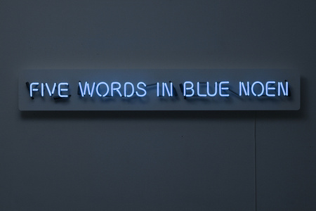 Neon Piece With Spelling Mistake (Five Words In Blue Noen)