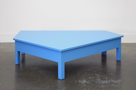 A Simple Blue Coffee Table
