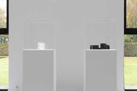 Moule en verre noir et blanc