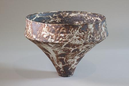 ceramic vase mashiko rust