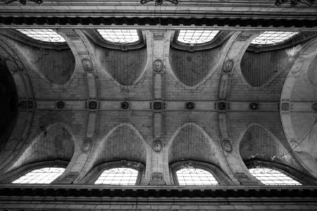 Teto da igreja de Saint Sulpice em Paris