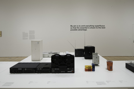"Installation view ""Less and More: The Design Ethos of Dieter Rams"""