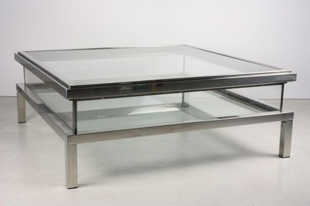 Vitrine Coffee Table with Sliding Top