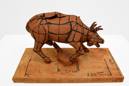 Maquette for the 1999 Venice Biennale, Pavilion of France, One Man Nine Animals, Figure 1