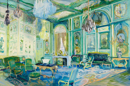Room with Green Boiseries