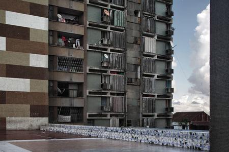Apartment building, Avenue Bagamoyo, Beira, Mozambique, from Avenue Patrice Lumumba